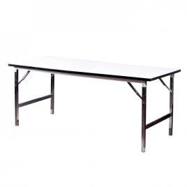 เช่าโต๊ะหน้าขาว ขนาด 75X180X75 ซม